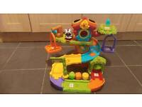 Toot toot tree house with zebra excellent condition