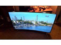 Panasonic Viera TX-55CR430B 55 inch Freeview HD 3D Smart LED Curved 4K Ultra HD TV