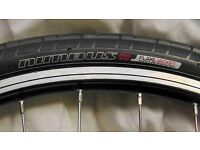 Alloy front bike wheel 6061 T6 (507 x 21 mm) and brand new Specialized Nimbus Flak Jacket tyre