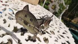Spring tin cat ornament/toy