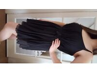 Topshop Black Pleated Strap Dress. Size 10-12. Good Condition. £5