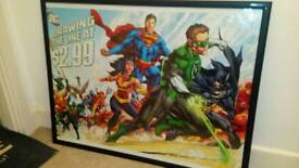 "Dc Comics framed "" Drawing the line at $2.99"" framed mint"
