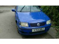 Vw polo accident damage,starts and drives need new wing