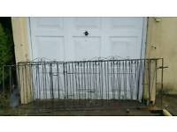 Iron wrought double gates (wide opening )