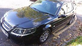 2007 Saab 9-5 Estate, Black, 1.9 TiD, 68000m, cruise control, mot, new tyres, Tow bar