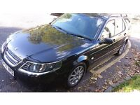 2007 Saab 9-5 Estate, Black, 1.9 TiD, 68000m, cruise control, mot, new tyres, Tow bar