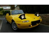 Mazda Mx5 EUNOS Import 80k Hardtop.. re-spray STUNNING YELLOW, Giveaway price quick Sale!!!