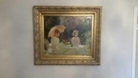 Antique Retro Original Old Oil Painting on canvas.