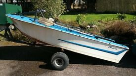 Broom boat with trailer