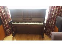 Free Piano - Murdock (o/strung) mahogany - COLLECT FROM GROUND FLOOR, SHIRLEY, CROYDON
