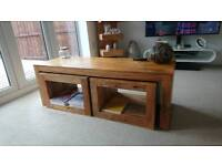 Coffee table and solid wood furniture