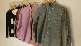 Ralph Lauren boy 3 shirts/jumper/rugby top, gap shirt