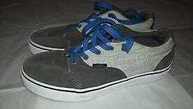 Vans shoes trainers size uk 3.5 two tone grey vgc boys girls ladies