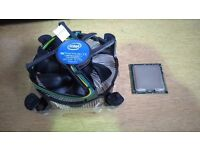 INTEL XEON W3520 QUAD CORE CPU COMPLETE WITH GENUINE INTEL HEAT SINK AND FAN.