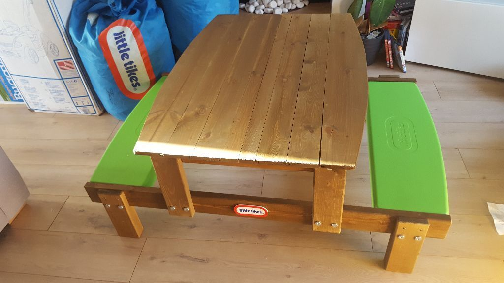 Little Tikes 2 In 1 Picnic Table Sandpit Brand New