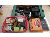 Bundle of Vintage Cameras and Accessories