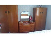 Vintage 1960s Bedroom Furniture Suite