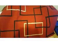 Large red modern floor rug
