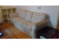 Ikea 3 seater sofa Ektorp with spare brand new cover, excellent condition, buyer collects