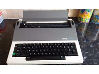 AX-10 Brother Portable Electronic Typewriter with instruction manual 1986 in excellent working order