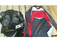 Alpine stars Xxl Jersey and large body armour