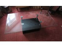 Glass top coffee table Furniture village