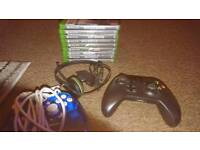Xbox one with games and kinnect