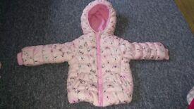 Mothercare girls winter jacket 9-12 months