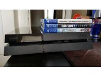 Playstation 4 500GB & 3 Games, Box etc