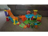 Vtech Toot Toot Garage, racing ramps and cars
