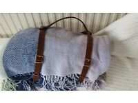 Brown leather picnic rug carry strap from Greige RRP £14.50 (rug not included)