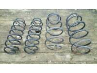 Front and back standard coil springs