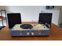 Steepletone, compact blue record player, model: SRP030S. Perfect condition.