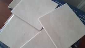 NICE MOTLED CREAM/ WHITE TILES. 7 BOXES AVAILABLE = 1 SQM EACH BOX