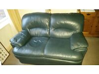 2 two seater settees blue
