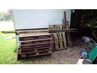 Free pallets and firewood.