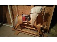 Hand made laminated wooden rocking horse