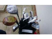 Complete golf set including trolley & bag