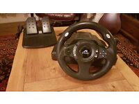 PS3, PS2, PC steering wheel TRACER Drifter with pedals