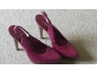 Moda in Pelle pink/purple high heel shoes size 39 (6)