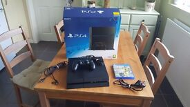 PS4 500GB Jet Black with FIFA 17 - (Excellent condition, boxed and barely used)