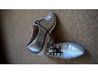 silver shoe size 4 new clarks
