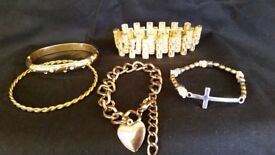 Gold and Silver effect Jewellery selection