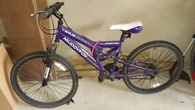 Muddyfox venous bike purple