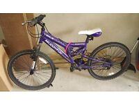 Muddyfox venous bike purple