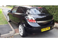 2008 VAUXHALL ASTRA DESIGN 1.6 PETROL,3 DOOR,LOW MILEAGE,18inch ALLOY WHEELS,HALF LEATHER.