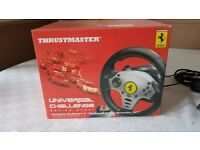Ferrari Trustmaster Steering Wheel, Pedals + 2 driving games for PS3