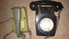 telephones Trim and GPO 711 (£50 each)