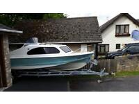 Shetland 535 boat with 75hp Mariner 4 stroke in fantastic condition ££££££? Spent!