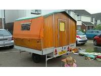 1960s Chateau mobile trailer tent With Awning